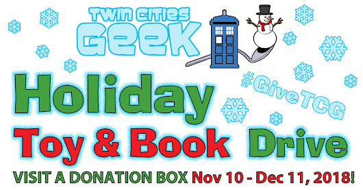 The 2018 Twin Cities Geek Holiday Toy & Book Drive Is Here!