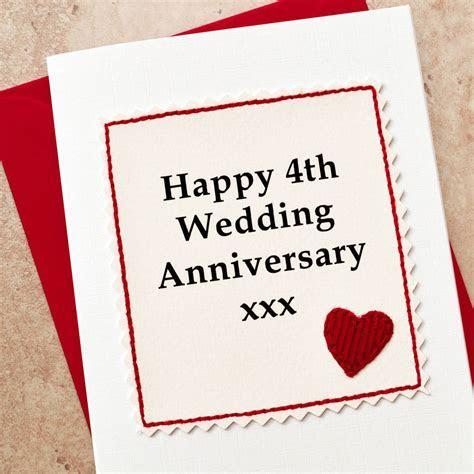 handmade 4th wedding anniversary card by jenny arnott
