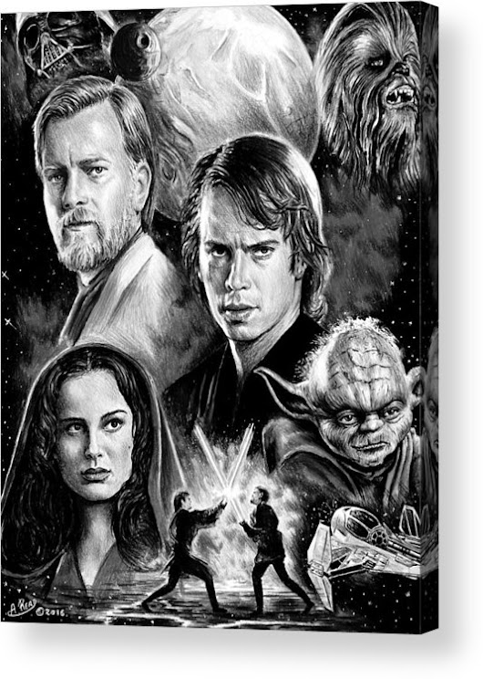 Revenge Of The Sith Bw Acrylic Print