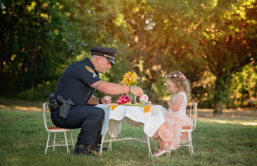 Tiny Girl Hosts Tea Party for the Cop Who Saved Her Life (PHOTOS) - Good News Network