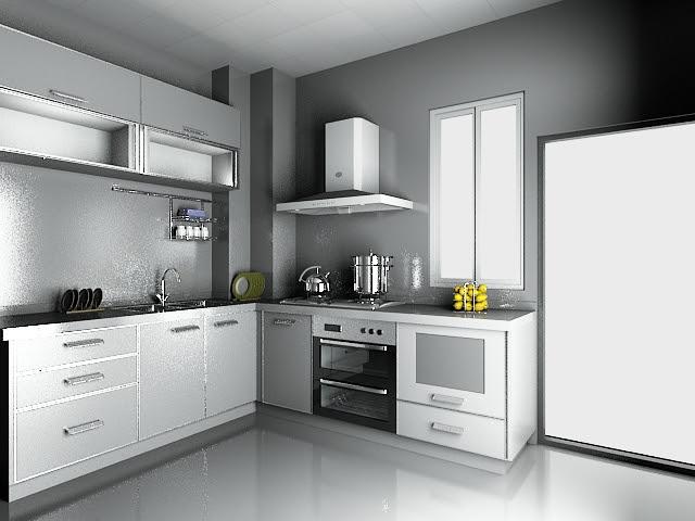 Modern luxury kitchen design 3d model 3dsMax files free ...