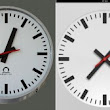 Apple blatantly copies the Swiss Federal Railway clock for iPad clock app