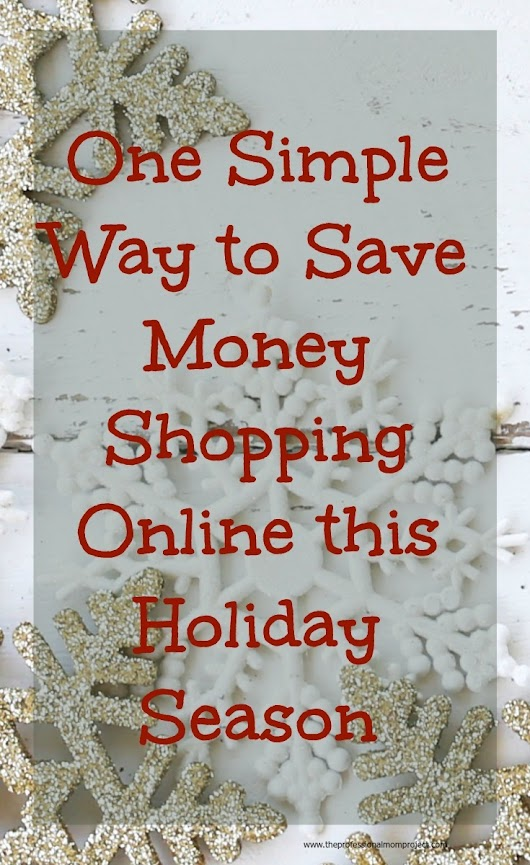 One Simple Way to Save Money Shopping Online - The Professional Mom Project