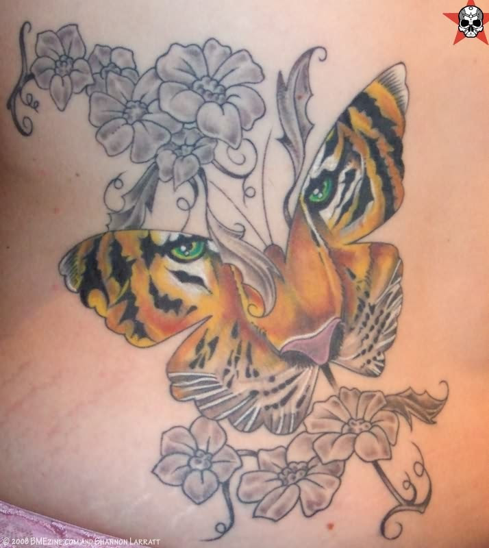 Women Butterfly Amp Tiger Tattoos Designs Tattoomagz