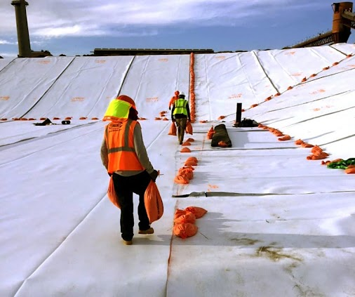 COMANCO Starts a 5 Layer Liner Installation for a Power Plant COMANCO recently started the liner installation...