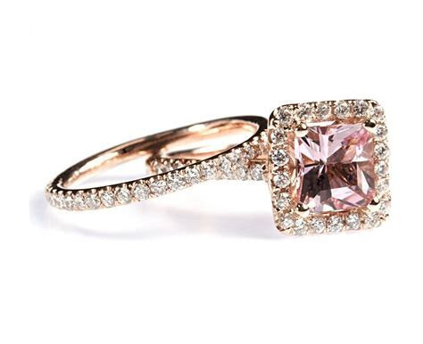 Amazon.com: 1.87 cttw 18k Rose Gold Diamond Morganite