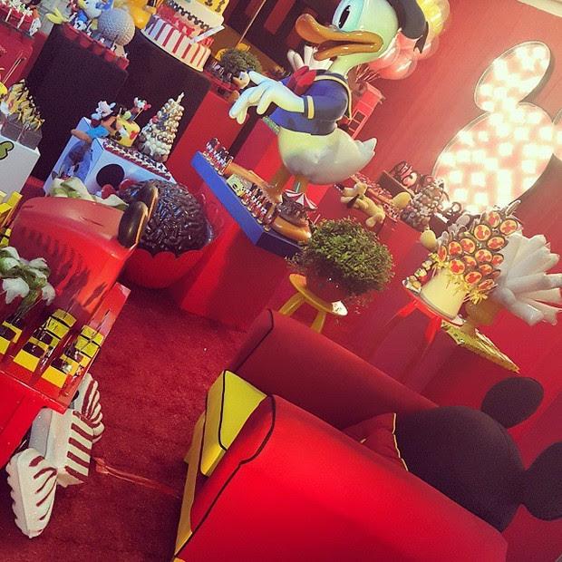Decoração de festa de 1 ano do filho de Ana Hickmann (Foto: Reprodução/Instagram)