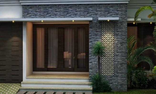 Rumah Minimalis Tampak Depan Dengan Batu Alam  Desain Rumah Minimalis