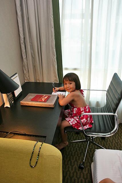 Jolie practising her Chinese