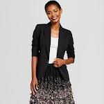 Women's Bi-Stretch Twill Blazer - A New Day Black