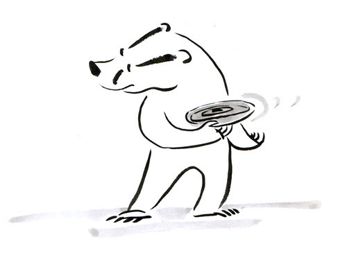 Badger Log: Frisbee  by apple-pine