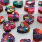 DIY Marbled Heart Crayons