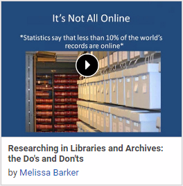 Researching in Libraries and Archives: the Do's and Don'ts