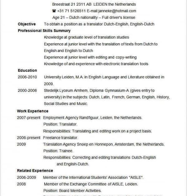 25 luxury american resume template  best resume examples
