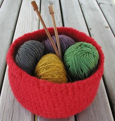 Felted Storage Basket