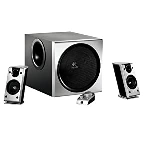 New Logitech Z-2300 Pc Speakers 200 Watts Of Rms Power Deliver Thunderous Audio For Music Movies