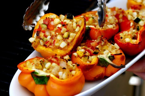 smoke-roasted stuffed bell peppers | smitten kitchen