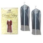 "ATB 2 x Dress Garment Storage Bag 53"" Protective Suit Cover Gown Storage Dust Travel"