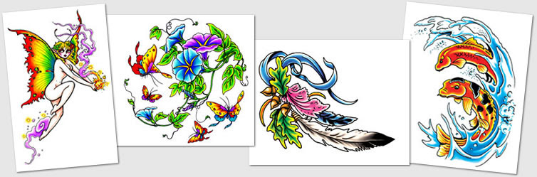 Tattoo Designs Symbols Fairy Flames Flower Frog Tattoos