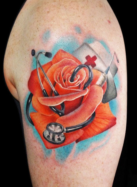 Andres Acosta Half Sleeve Rose Tattoo Design Design Of