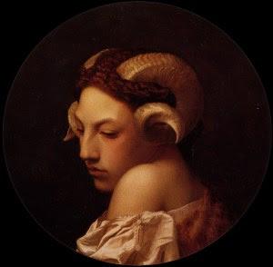 The Bacchante, Jean-Léon Gérôme 1853. A woman transforms into a goat-creature in Basile's tale, 'The Goat-Face'