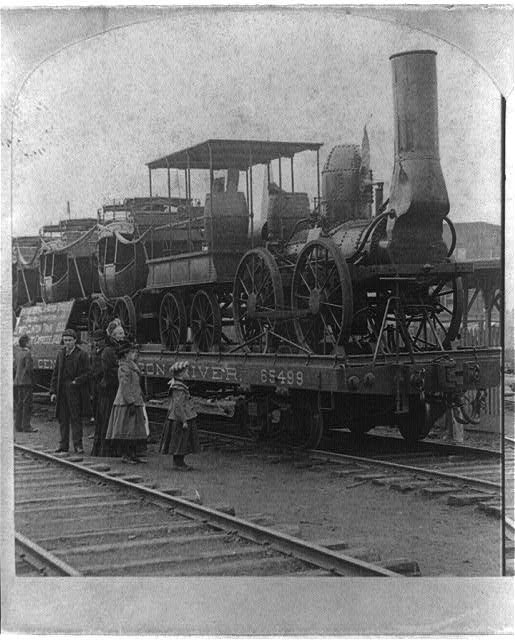 The first engine and train in America