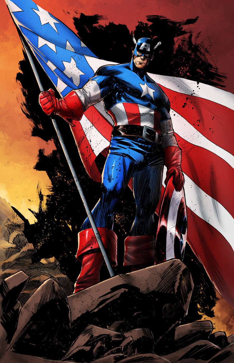 comicsforever:  Captain America // artwork by Matteo Scalera and AsylumComics (2012)
