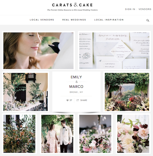 Carats and Cake: Wave Hill Wedding and New York Palace Wedding