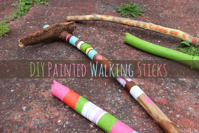 DIY Painted Walking Sticks - Perfect Camping Craft! Glamping Time!