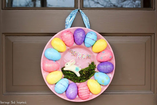 How to Make an Egg Tray Wreath for Easter with Dollar Store Supplies