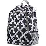 Zodaca Outdoor Camping Hiking Large Travel Sport Backpack Shoulder School Bag - Quatrefoil Black