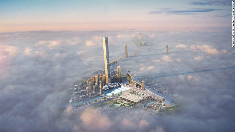 A lavish new project has been unveiled in Dubai that will include the world's longest indoor ski slope, the largest dancing fountain, the tallest residential tower, the highest 360-degree observation deck and the highest restaurant.