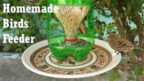 bird feeder diy homemade plastic bottle