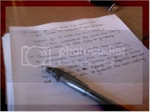 These aren't really my notes, but I have a pen something like that...