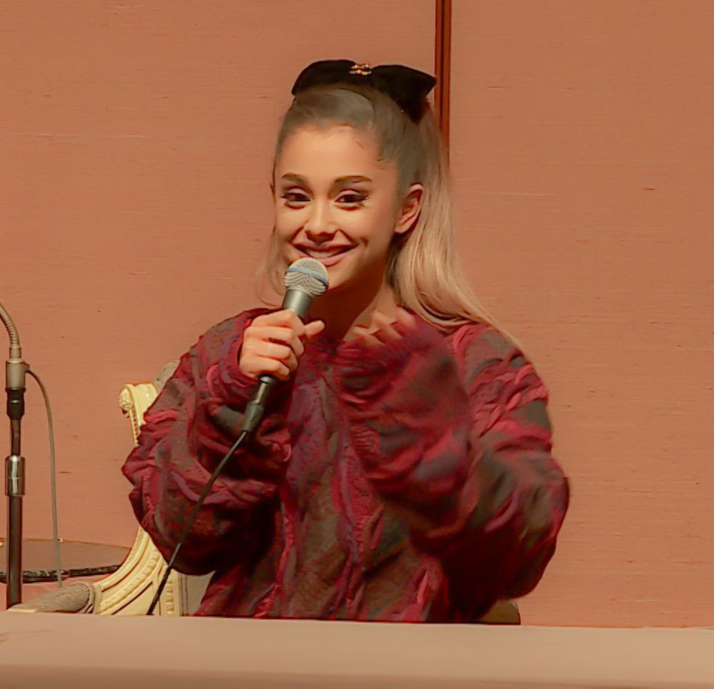 ARIANA GRANDE at a Press Conference in Japan 04/15/2016
