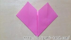 折り紙 ハートの便箋びんせんの折り方