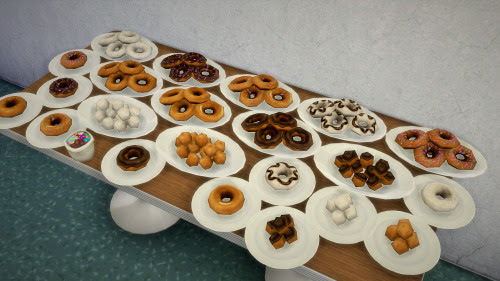 Doughnuts - extracted food from debug mode, deco only, also buyable.DownloadMade with Sims 4 Studio