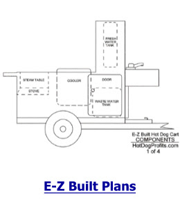 E Z Built Hot Dog Cart Videos And Plans Package