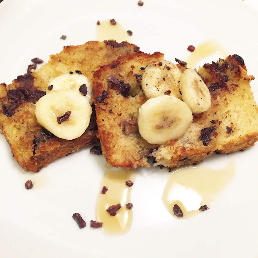 Chocolate Chip Bourbon Banana Bread French Toast