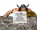 Viking Over The Fence Yard Art Woodworking Pattern - fee plans from WoodworkersWorkshop® Online Store - vikings,yard art,painting wood crafts,patterns,drawings,plywood,plywoodworking plans,woodworkers projects,workshop blueprints