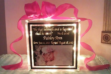 Baby Glass Block Baby Gift Baby Gift Ideas Personalized Baby