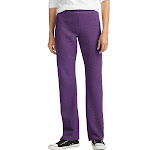 Hanes O4629 ComfortSoft EcoSmart Women's Open Leg Fleece Sweatpants - Violet Splendor Heather