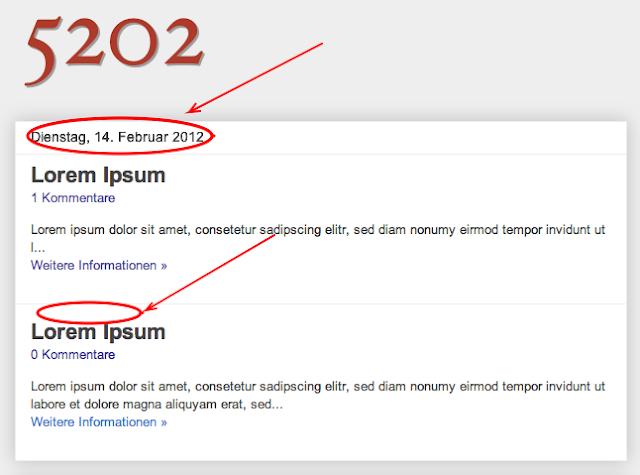 5202 blogger jeder post ein eigenes datum