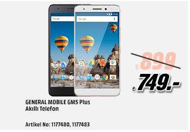 General Mobile GM5 Plus Akıllı Telefon 749TL