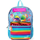 Jojo Siwa Demin Rainbow Backpack with Bonus Bow, Size: One Size
