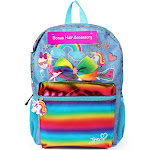 Jojo Siwa 16'' Kids' Backpack with Bonus Hair Bow, Girl's, Blue Pink White