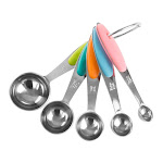 Classic Cuisine 82-KIT1038 Stainless Steel Measuring Spoons Set - 5 Piece