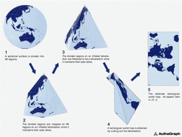 Técnica de origami foi usada para criação do mapa (Foto: AutaGraph)