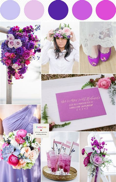 Dusty Pink Indigo Lilac and Radiant Orchid Wedding