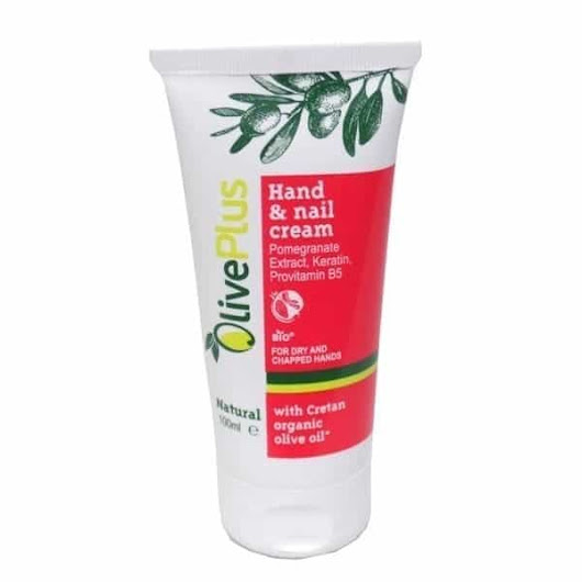 Olive Plus Hand and Nail Cream pomegranate.